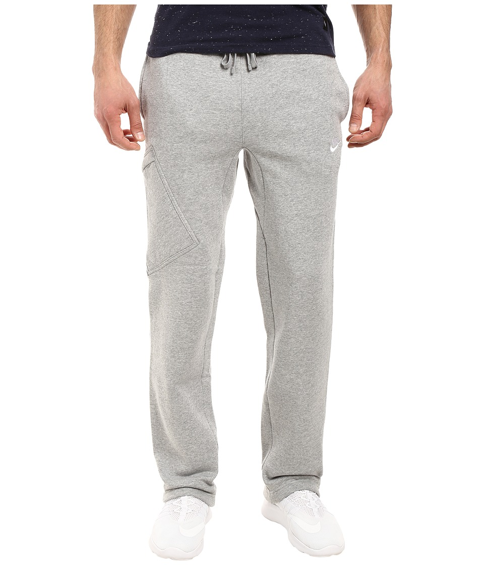 Nike - Club Fleece Cargo Pant (Dark Grey Heather/White) Men's Workout