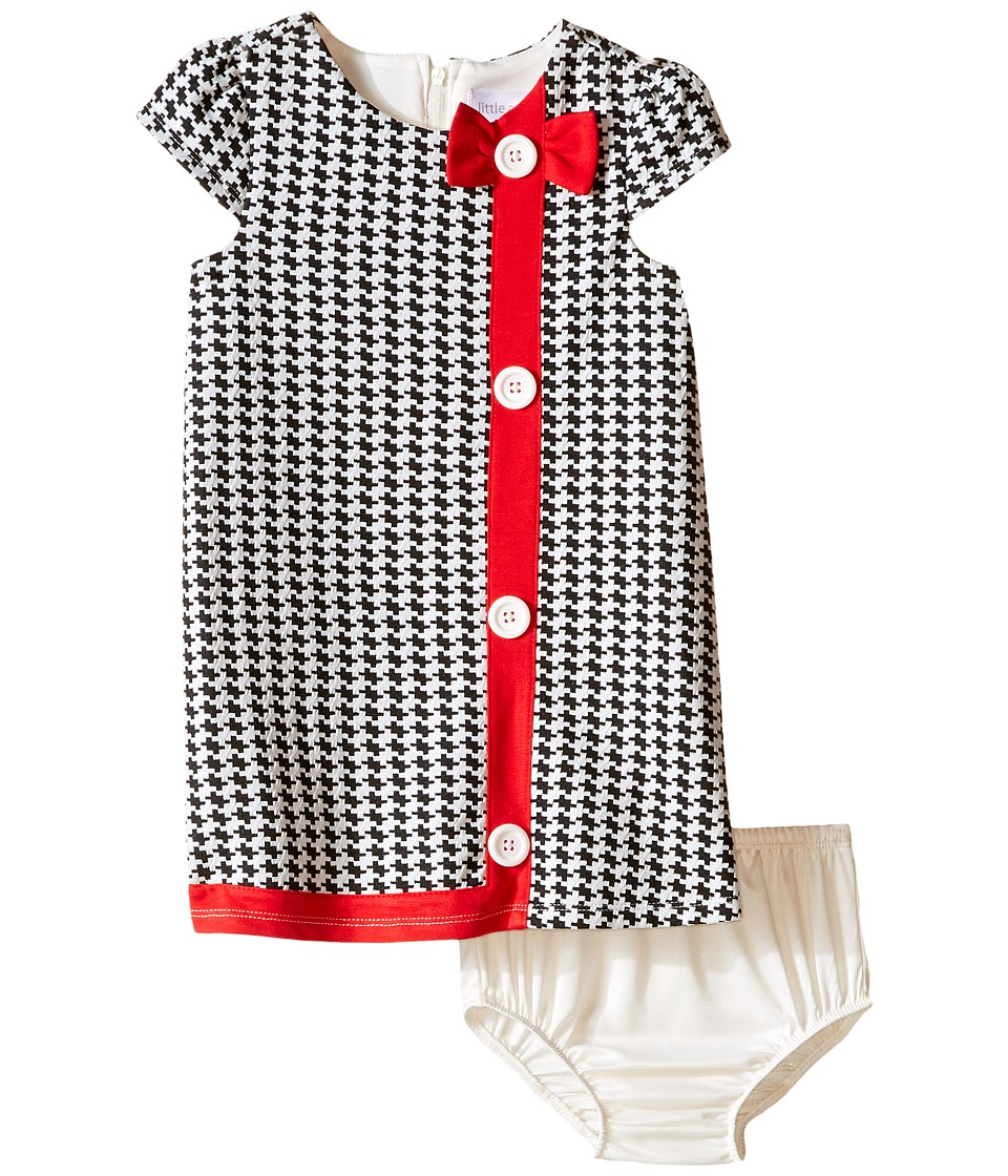 Us Angels - Houndstooth Cap Sleeve A-Line Dress (Infant) (Black/White) Girl's Dress