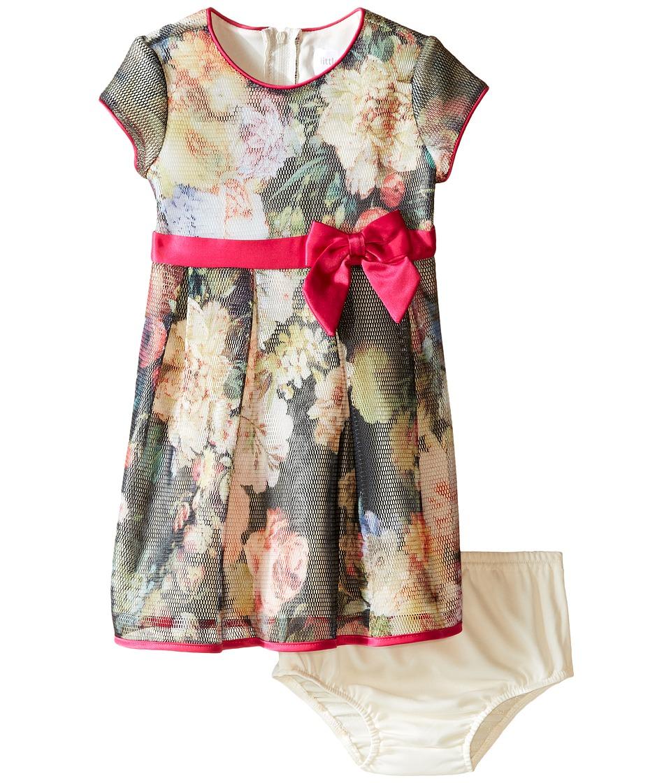 Us Angels - Bonded Mesh Cap Sleeve Dress (Infant) (Multi) Girl's Dress