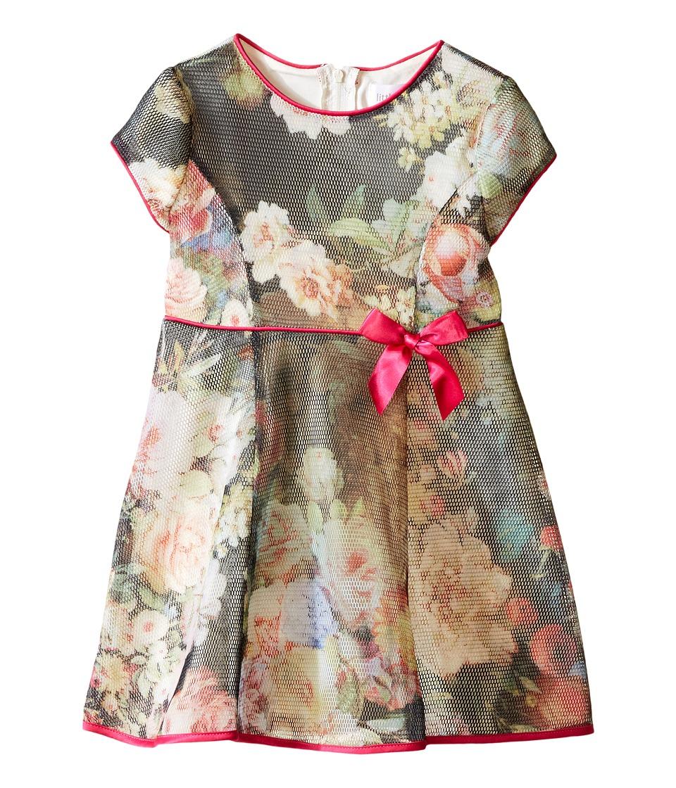 Us Angels - Bonded Mesh Cap Sleeve Dress (Toddler) (Multi) Girl's Dress