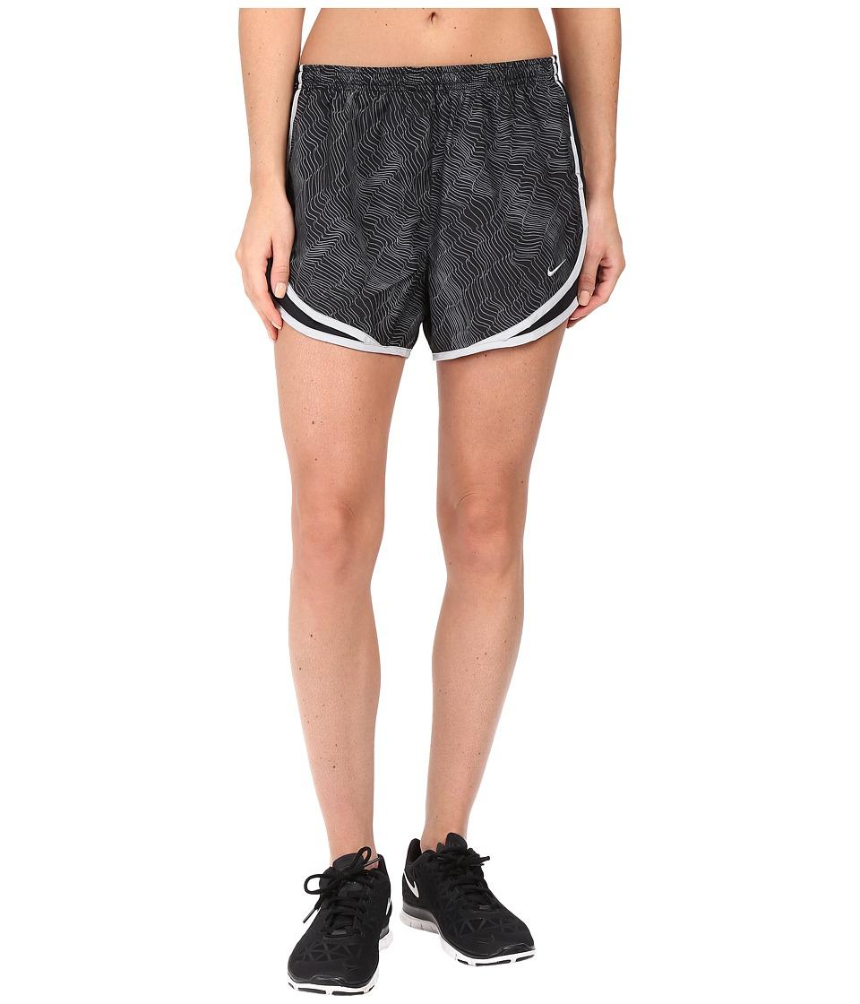 Nike - Dry Tempo Print Running Short (Black/Black/Wolf Grey/Wolf Grey) Women's Shorts