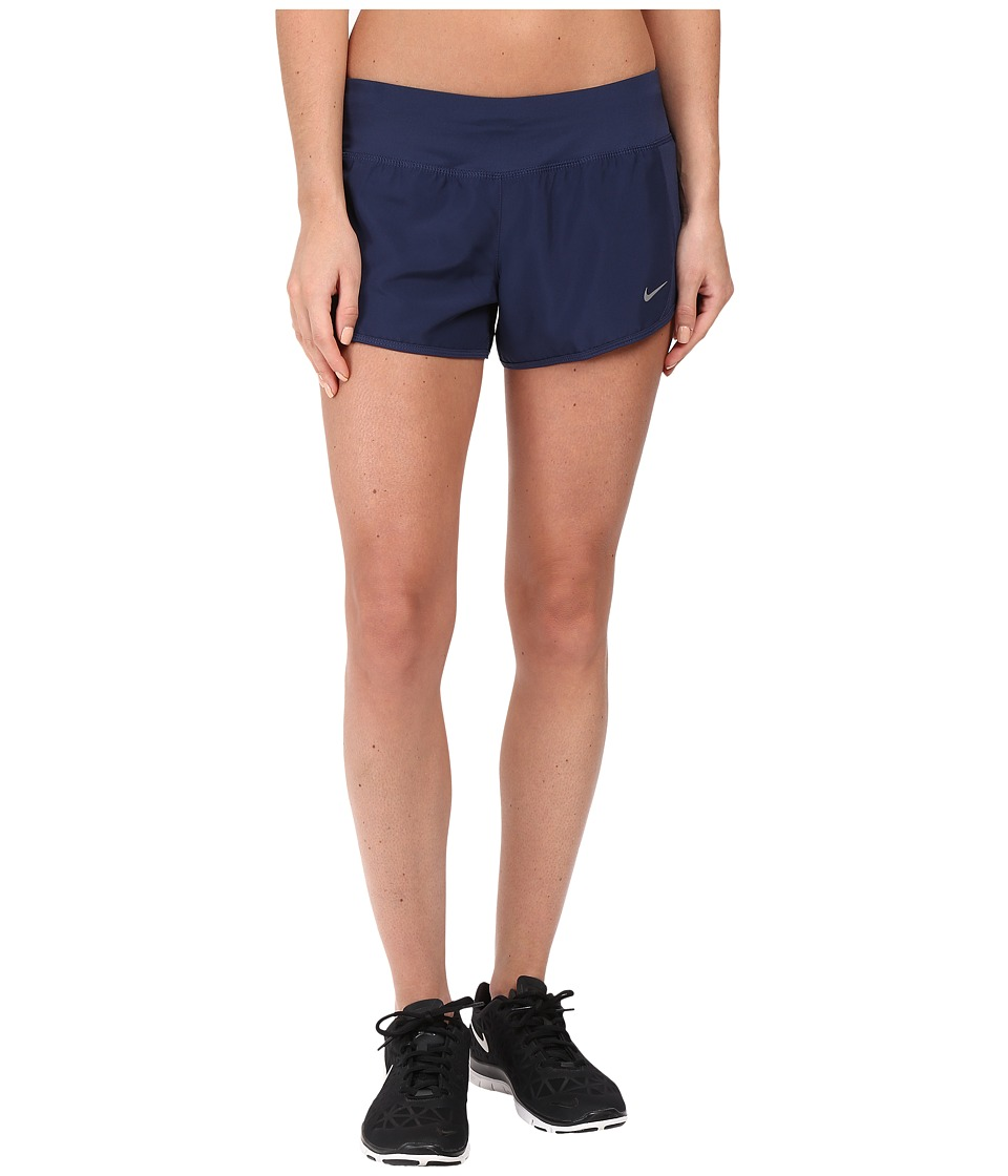 Nike - Crew Shorts (Midnight Navy/Reflective Silver) Women's Shorts