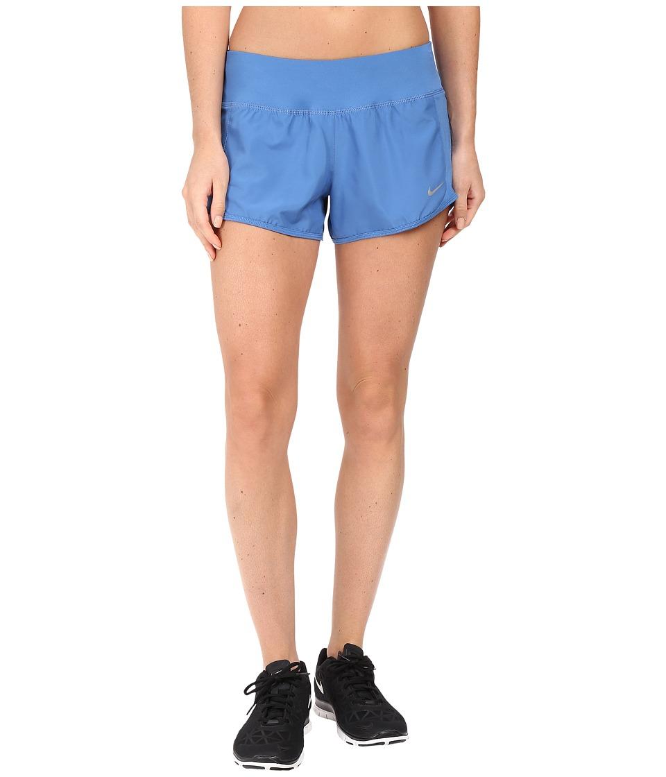 Nike Crew Shorts (Star Blue/Star Blue/Reflective Silver) Women