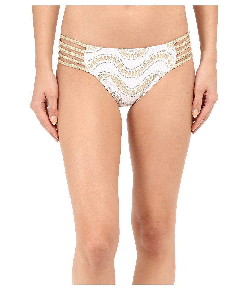Luli Fama - Buena Onda Multi Braid Full Bottom (White) Women's Swimwear