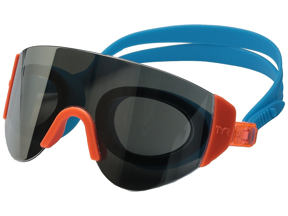 TYR - Renegade Swimshades Mirrored Swimshades (Silver/Orange/Blue) Fashion Sunglasses