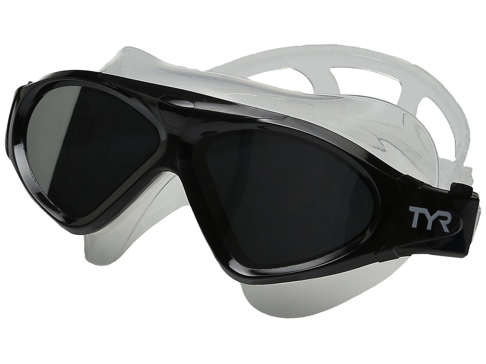 TYR - Magna Swim Mask Polarized Swim Mask (Silver/Black/Clear) Water Goggles