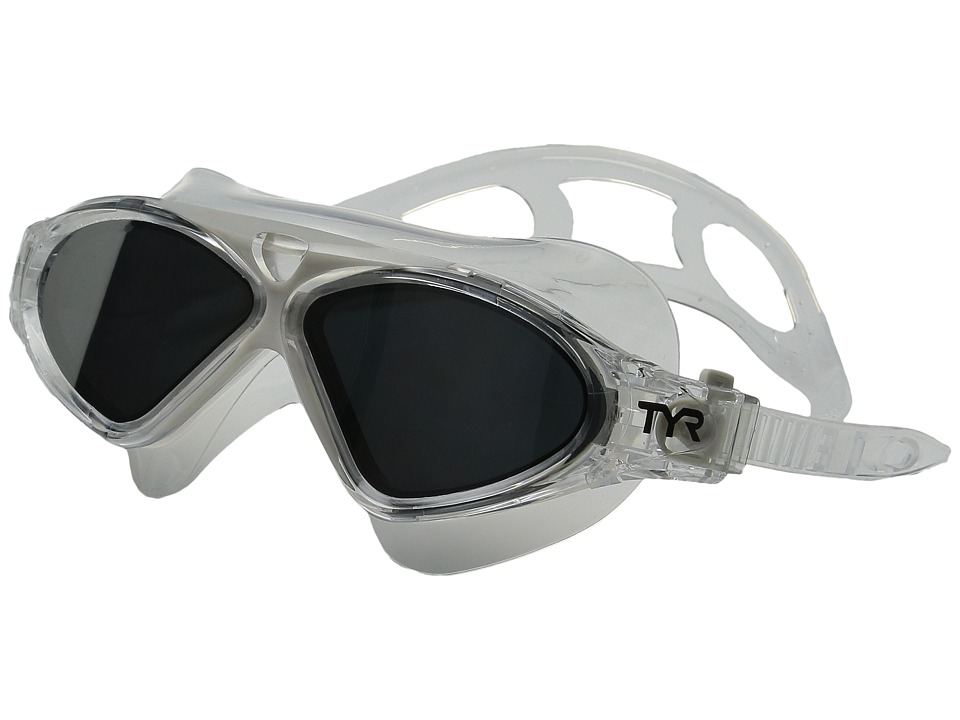 TYR - Magna Swim Mask Polarized Swim Mask (Silver/Clear Grey/Clear) Water Goggles