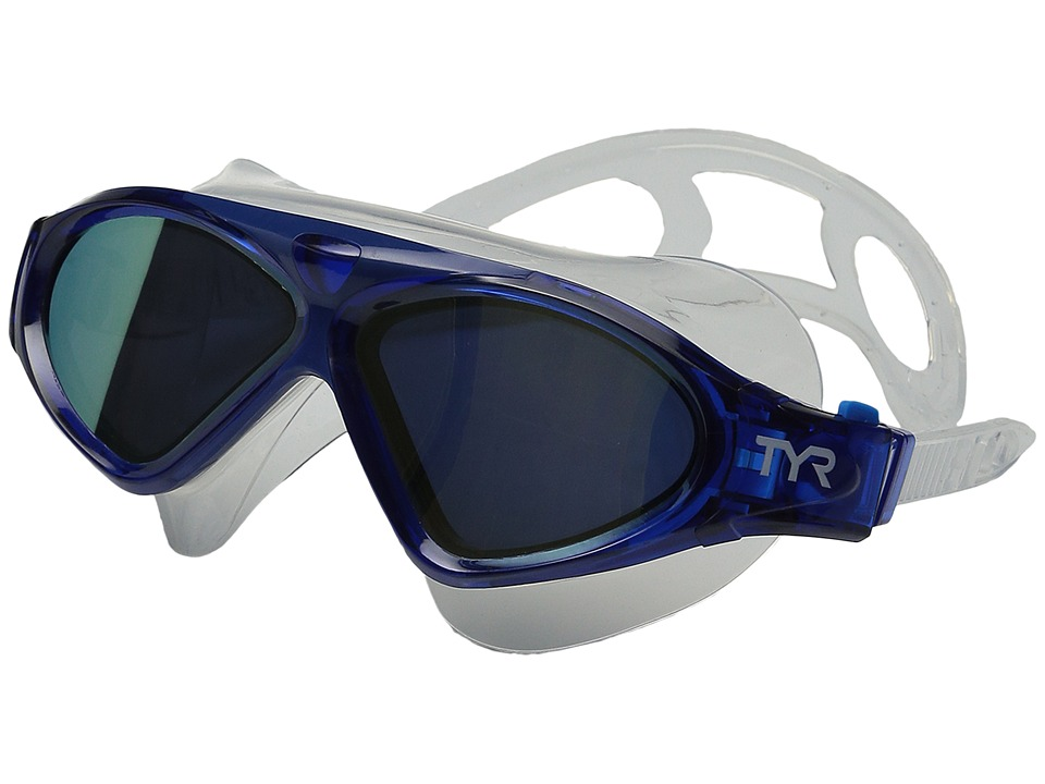 TYR - Magna Swim Mask Polarized Swim Mask (Gold/Navy Blue/Clear) Water Goggles