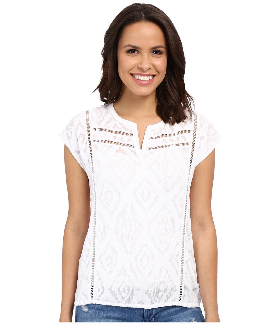 Lucky Brand - Slit Neck Blouse (Bright White) Women's Blouse
