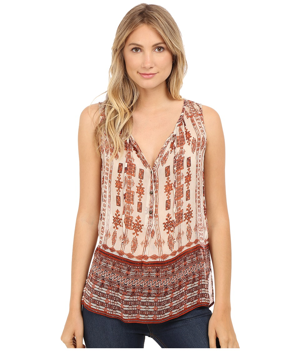 Lucky Brand - Tribal Printed Blouse (Natural Multi) Women's Blouse