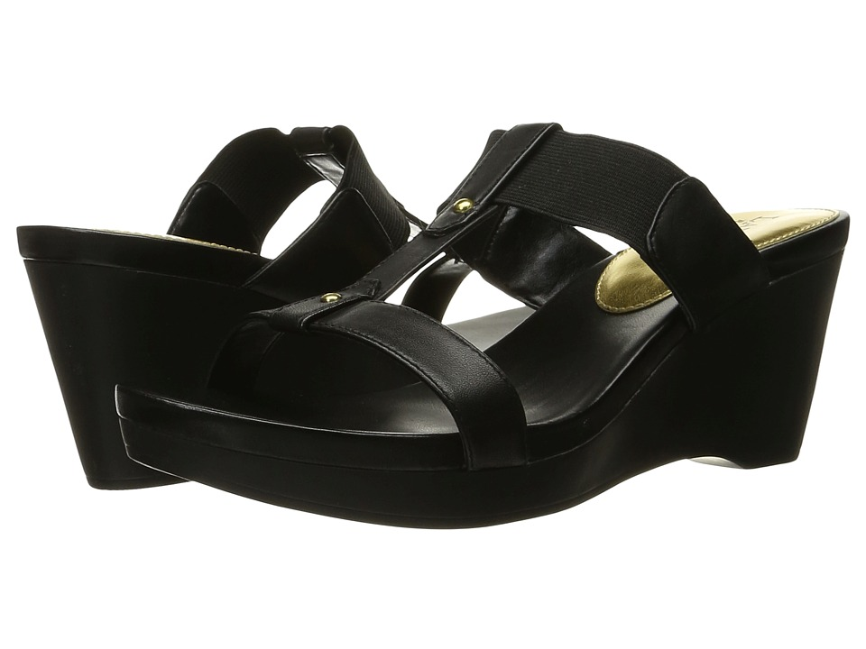 LAUREN Ralph Lauren Rue (Black Burnished Vachetta/Elastic) Women