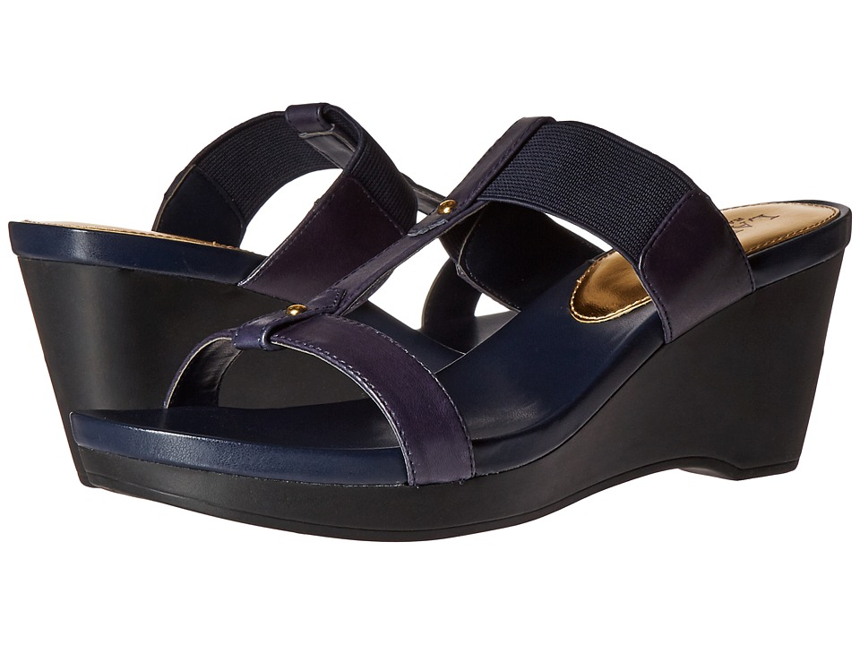 LAUREN Ralph Lauren - Rue (Modern Navy Burnished Vachetta/Elastic) Women's Shoes