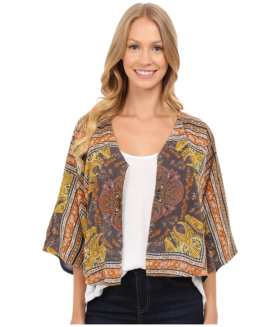 Lucky Brand - Scarf Print Jacket (Orange Multi) Women