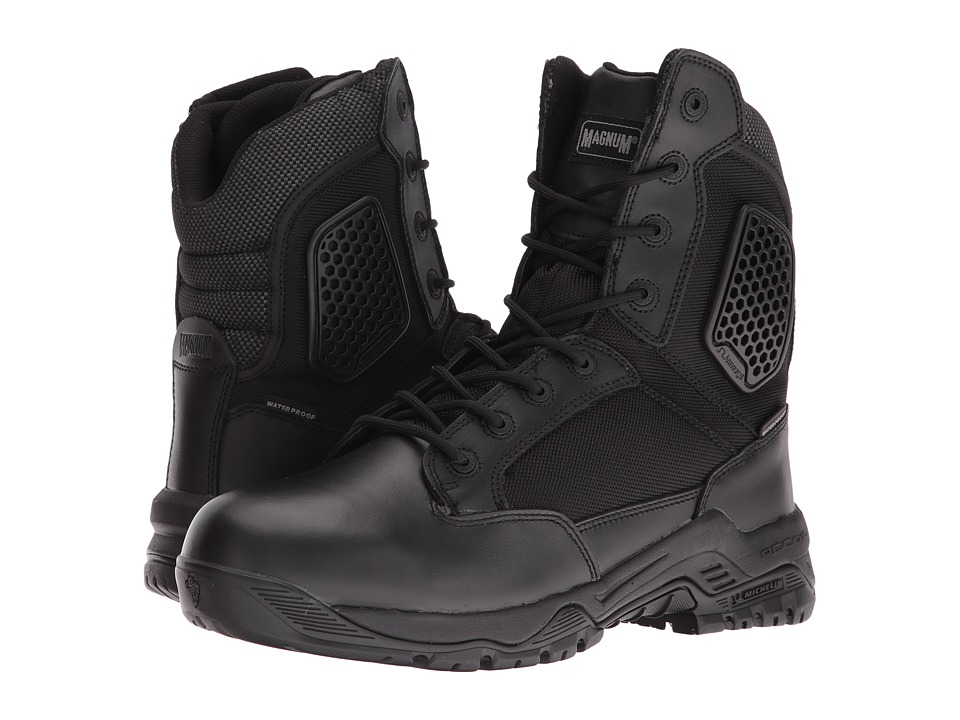 Magnum - Strike Force 8 Side Zip Waterproof (Black) Men's Waterproof Boots