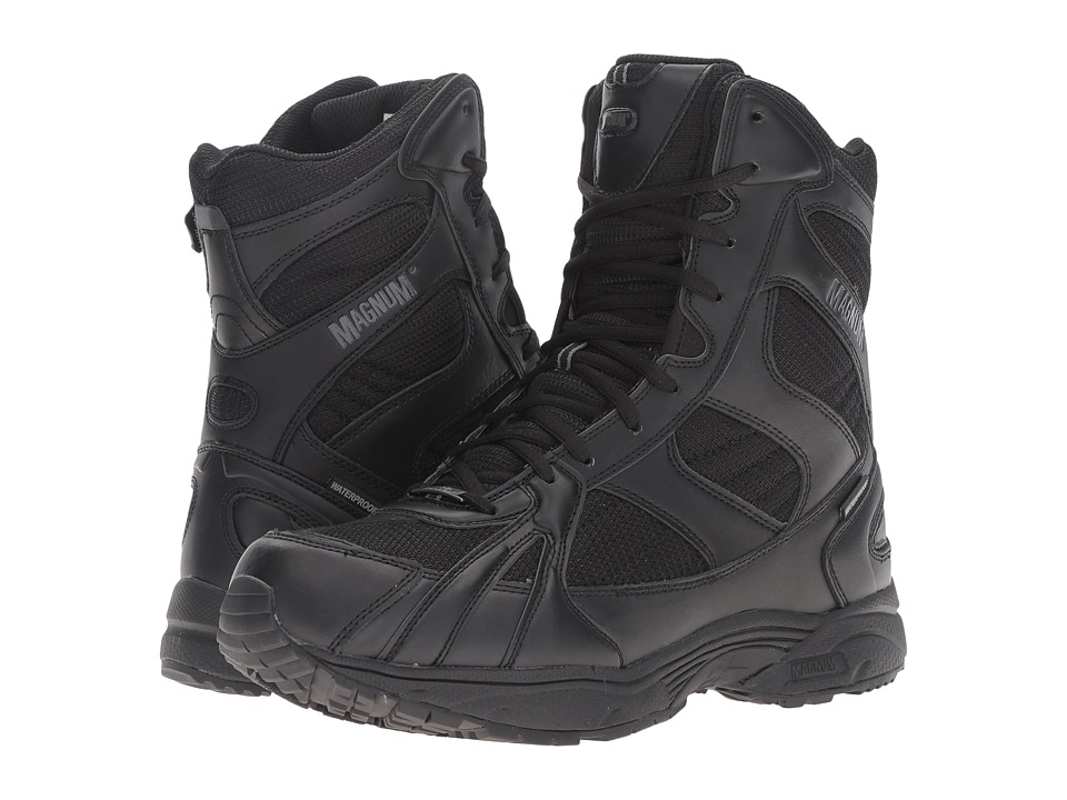Magnum - Must 8 Side Zip Waterproof (Black) Men's Waterproof Boots