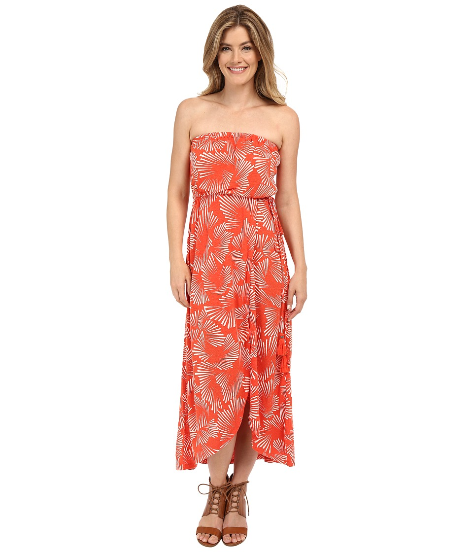 Lucky Brand Radial Floral Dress (Red Multi) Women