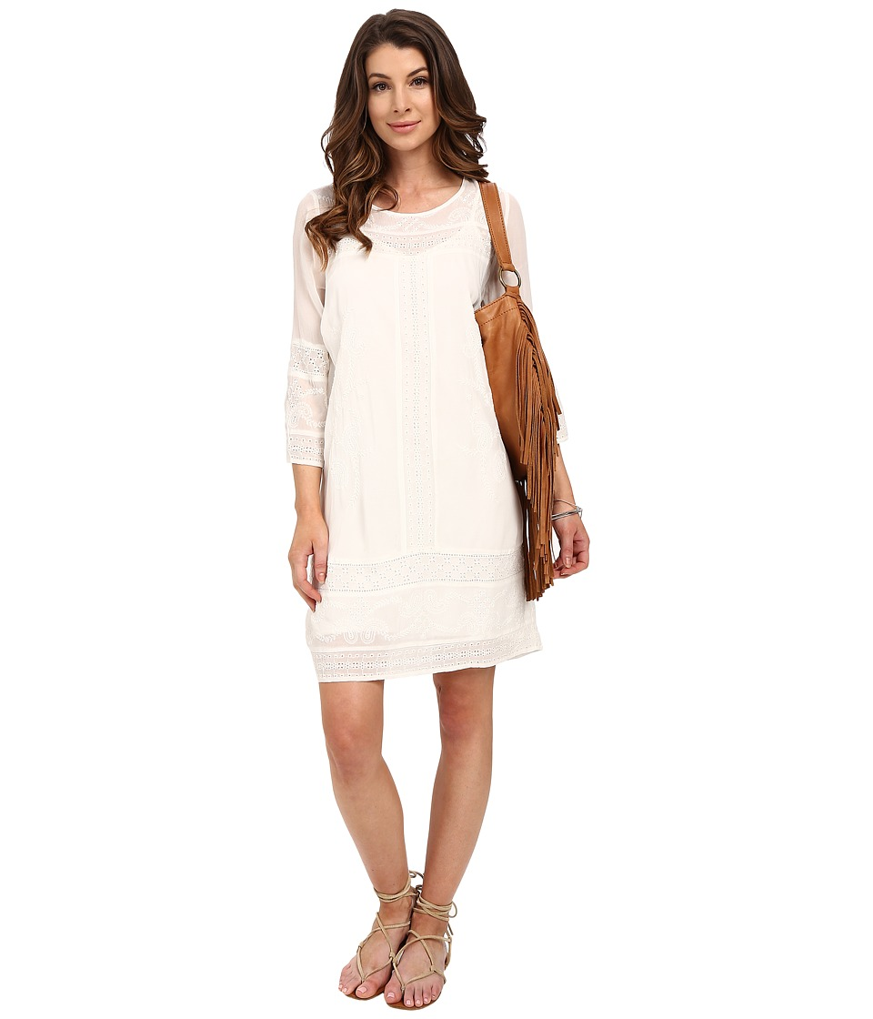 Lucky Brand - Eyelet Dress (Lucky White) Women's Dress