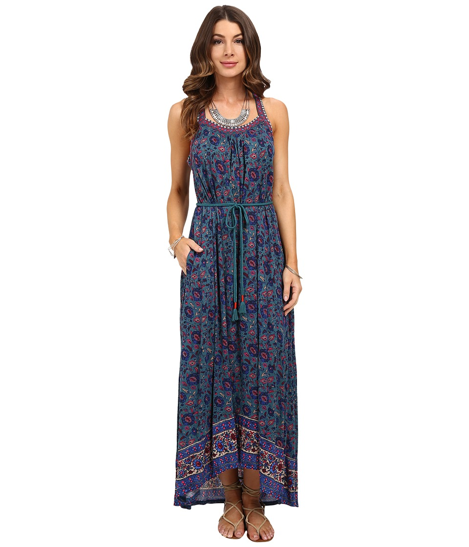 Lucky Brand Circle Embroidered Dress (Multi) Women