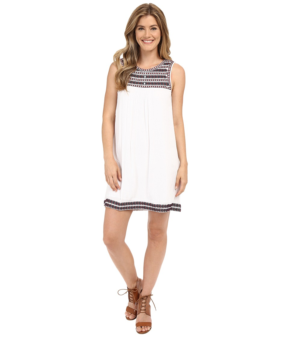 Lucky Brand Embroidered Dress (Lucky White) Women
