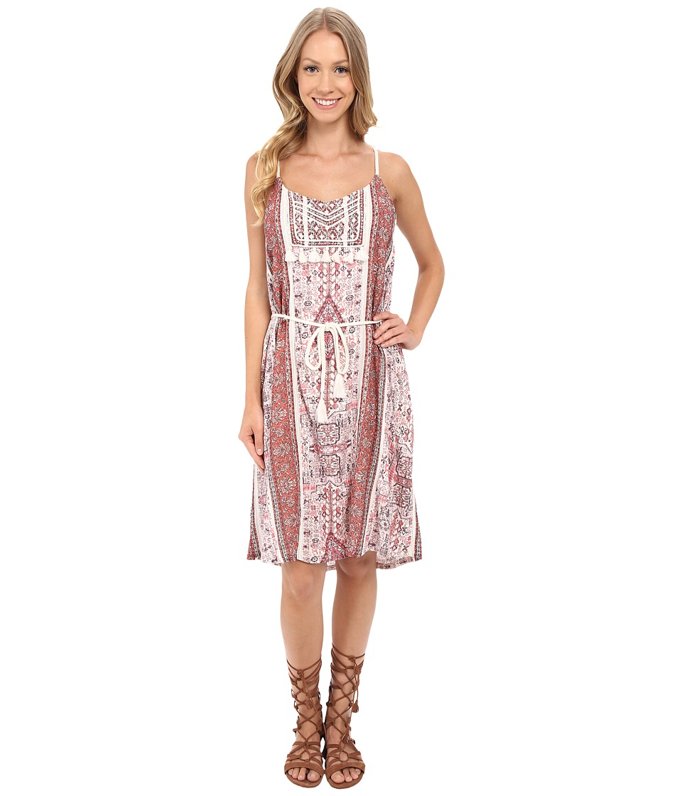 Lucky Brand - Tribal Printed Dress (Coral Multi) Women's Dress