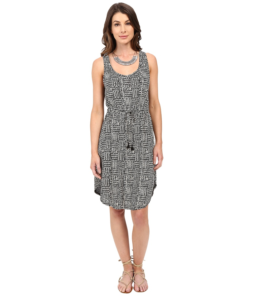 Lucky Brand Printed Knit Dress (Black Multi) Women