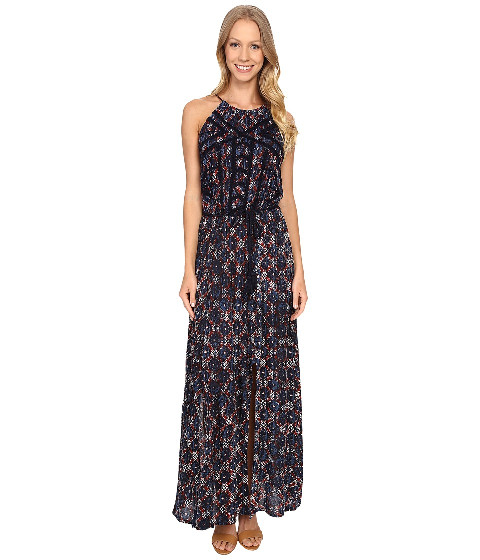 Lucky Brand - Printed Maxi Dress (Blue Multi) Women's Dress