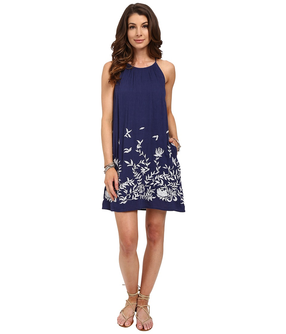 Lucky Brand - Floral Embroidered Dress (Blue Multi) Women's Dress