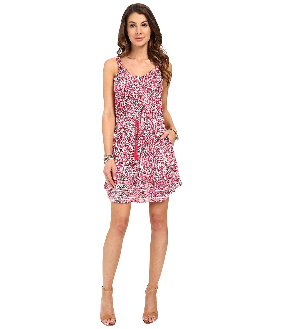 Lucky Brand - Stamp Twist Strap Dress (Berry Multi) Women's Dress
