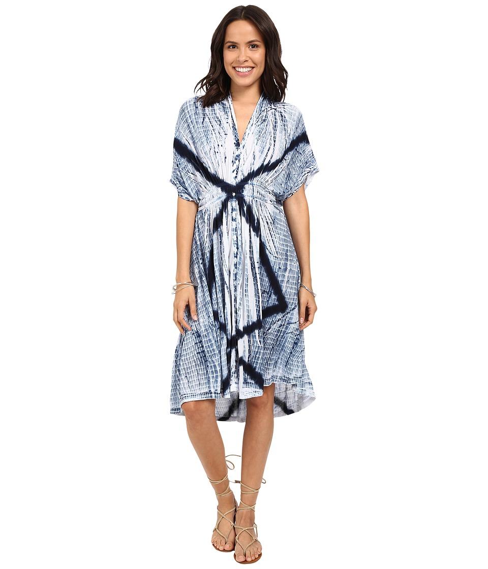 Lucky Brand - Tie-Dye Audrey Dress (Blue Multi) Women's Dress