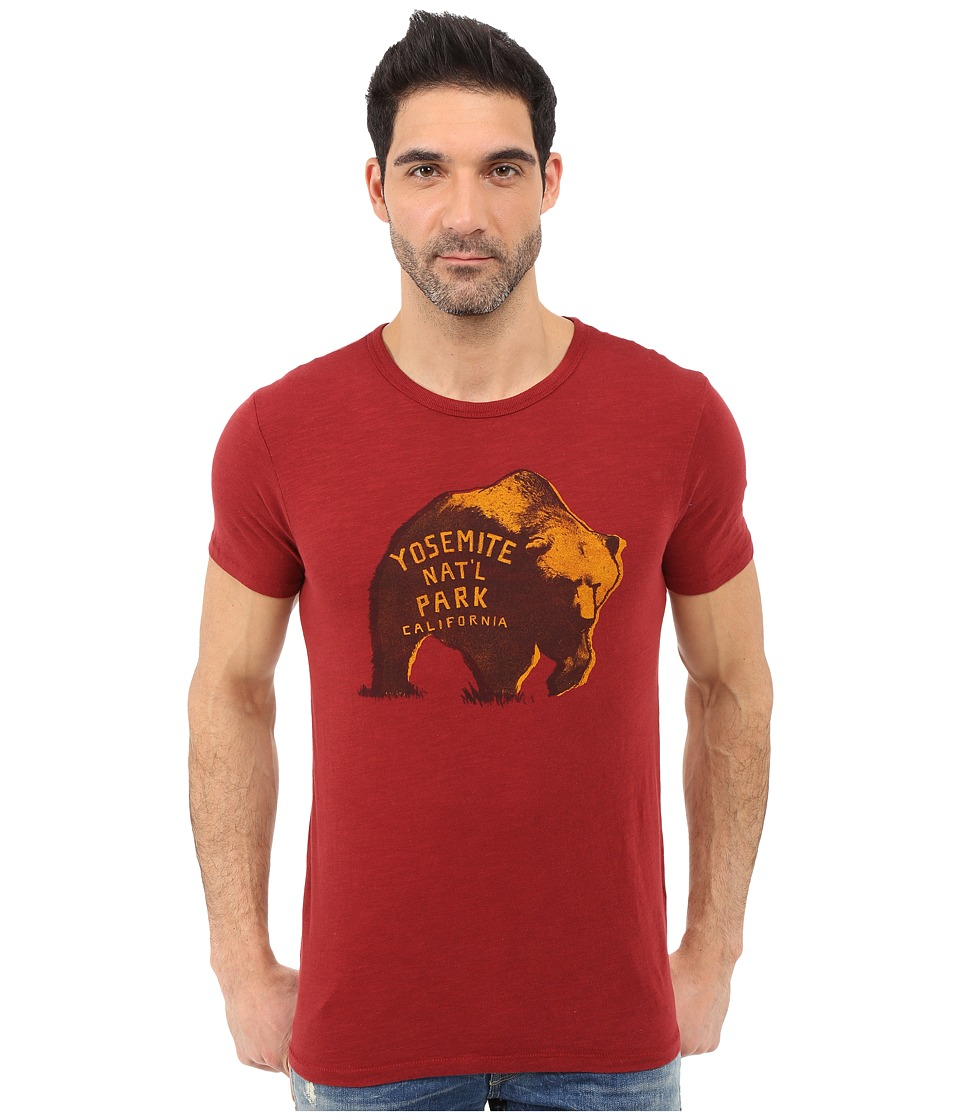 Lucky Brand - Yosemite Bear Graphic Tee (Sun Dried Tomato) Men's T Shirt