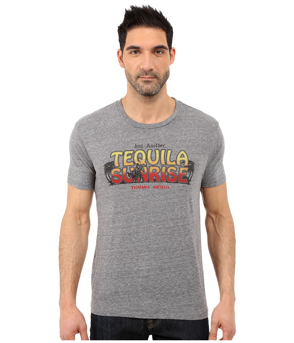 Lucky Brand - Tequila Sunrise Graphic Tee (Grey) Men's Short Sleeve Pullover