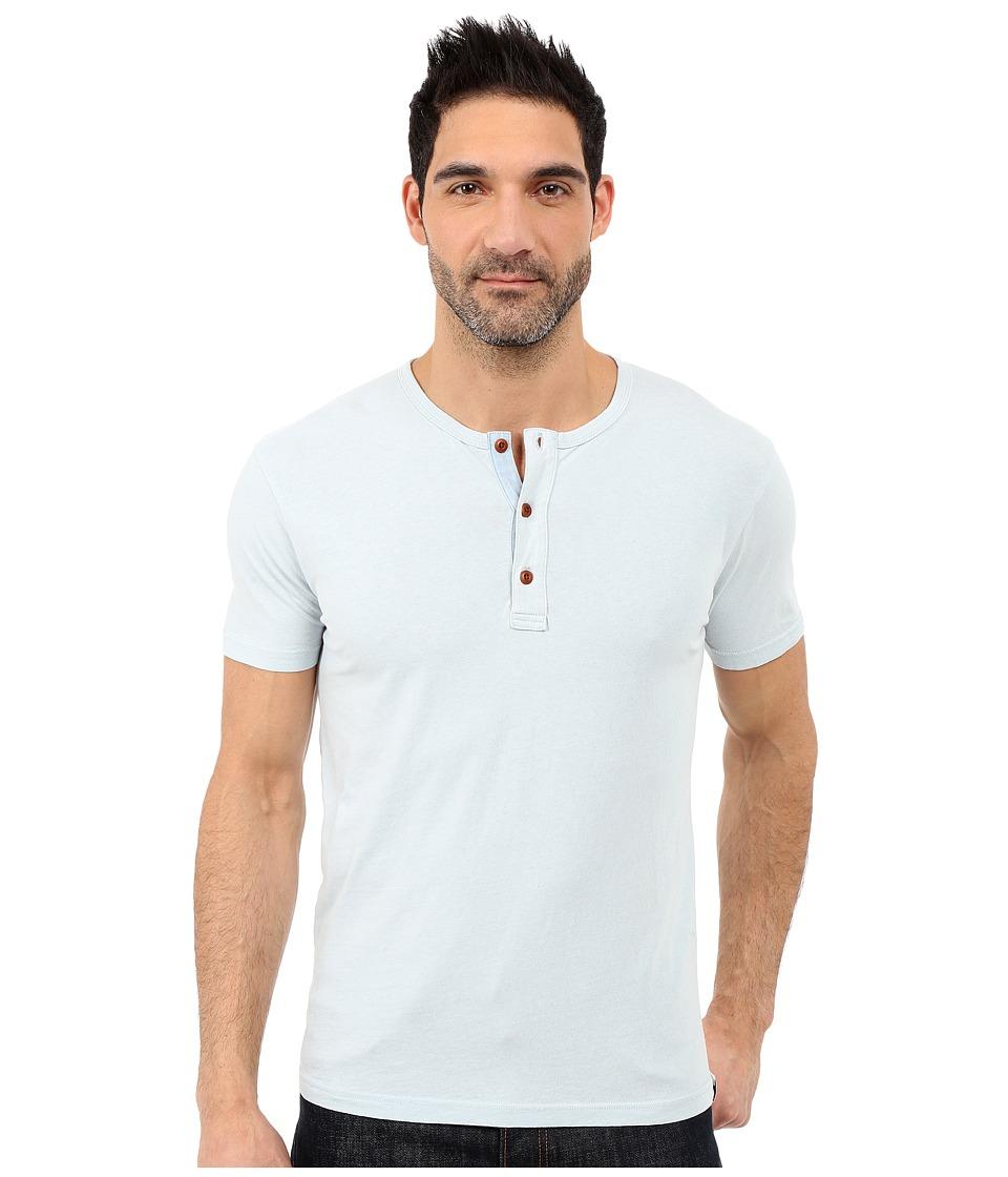 Lucky Brand - Short Sleeve Henley (Indigo) Men's Short Sleeve Pullover