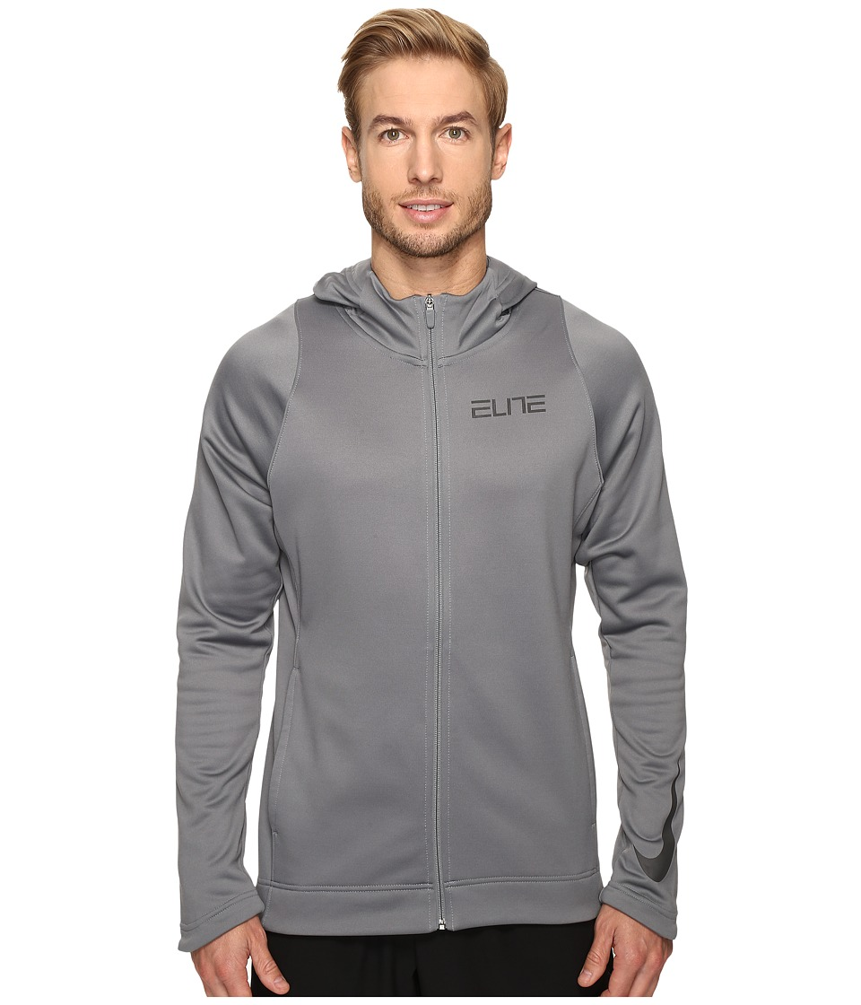 Nike - Therma Elite Full-Zip Basketball Hoodie (Cool Grey/Cool Grey/Cool Grey/Anthracite) Men's Sweatshirt