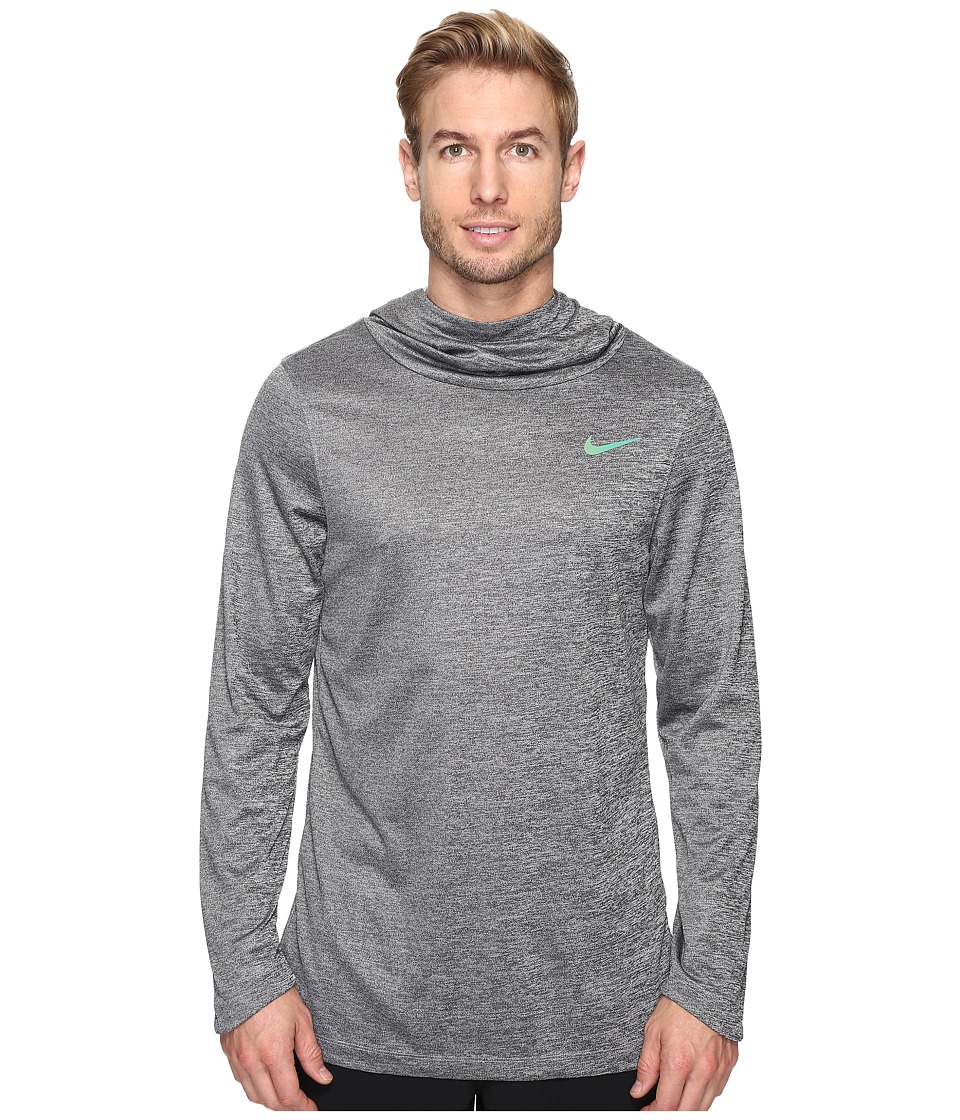 Nike - Elite Basketball Hoodie (Wolf Grey/Wolf Grey/Iridescent) Men's Sweatshirt