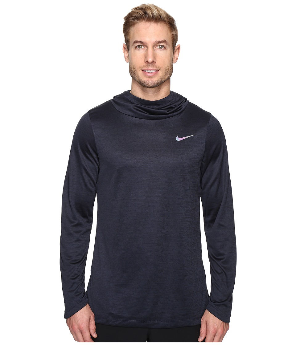Nike - Elite Basketball Hoodie (Obsidian/Obsidian/Iridescent) Men's Sweatshirt