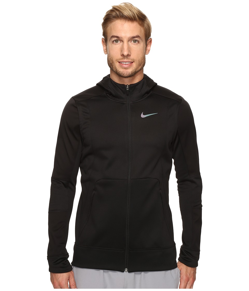 Nike - Therma Hyper Elite Basketball Hoodie (Black/Black/Iridescent) Men's Sweatshirt