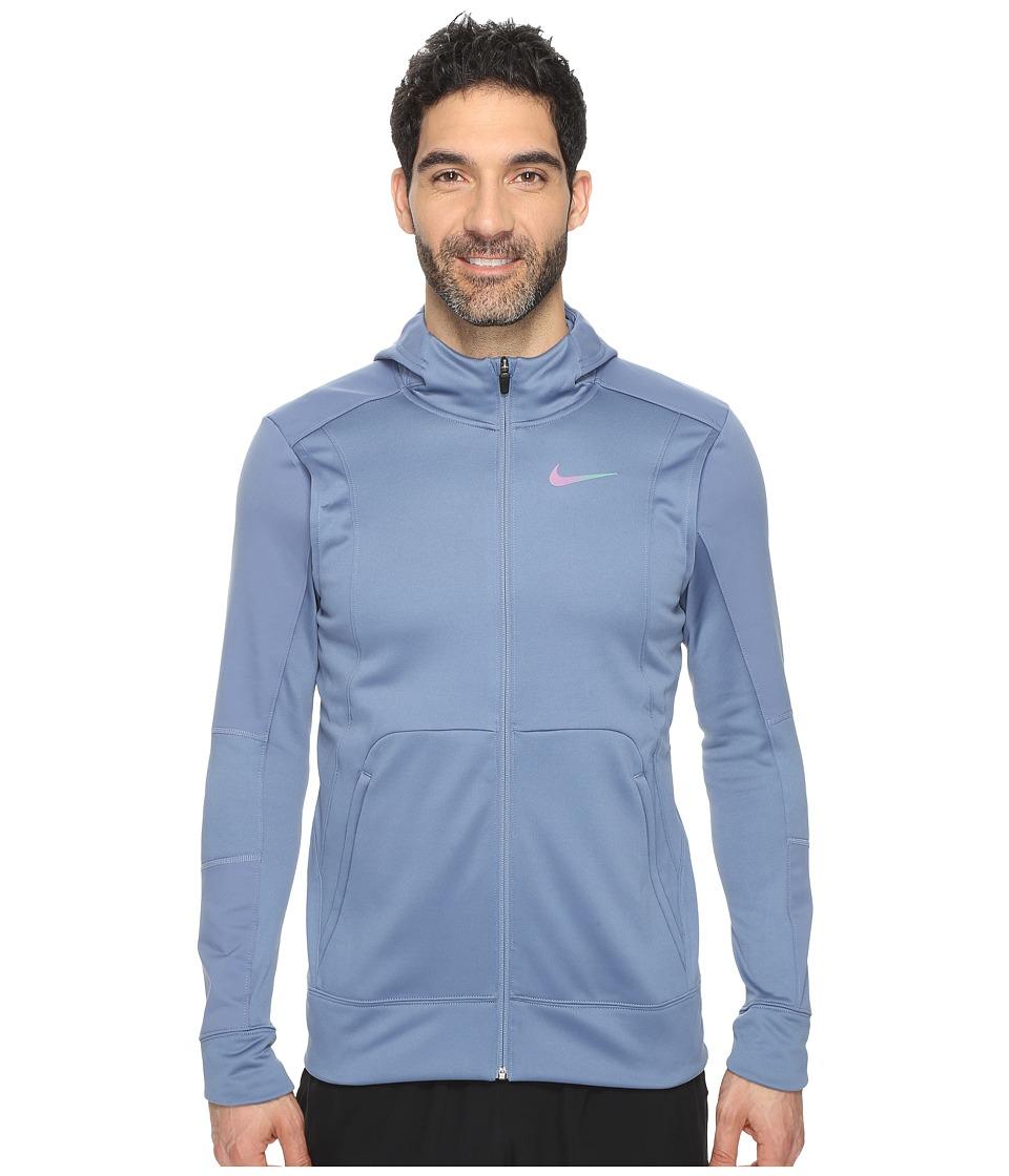 Nike - Therma Hyper Elite Basketball Hoodie (Ocean Fog/Black/Iridescent) Men's Sweatshirt