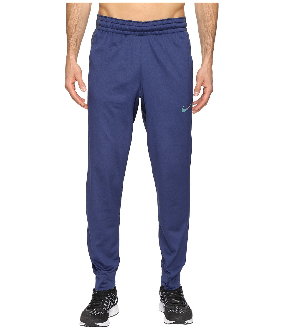Nike - Elite Basketball Pant (Obsidianheather/Obsidian/Iridescent) Men's Casual Pants