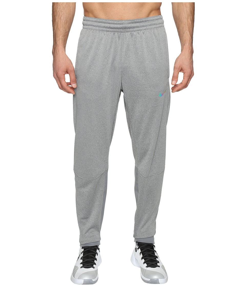 Nike - Therma Hyper Elite Basketball Pant (Dark Grey Heather/Iridescent) Men's Casual Pants