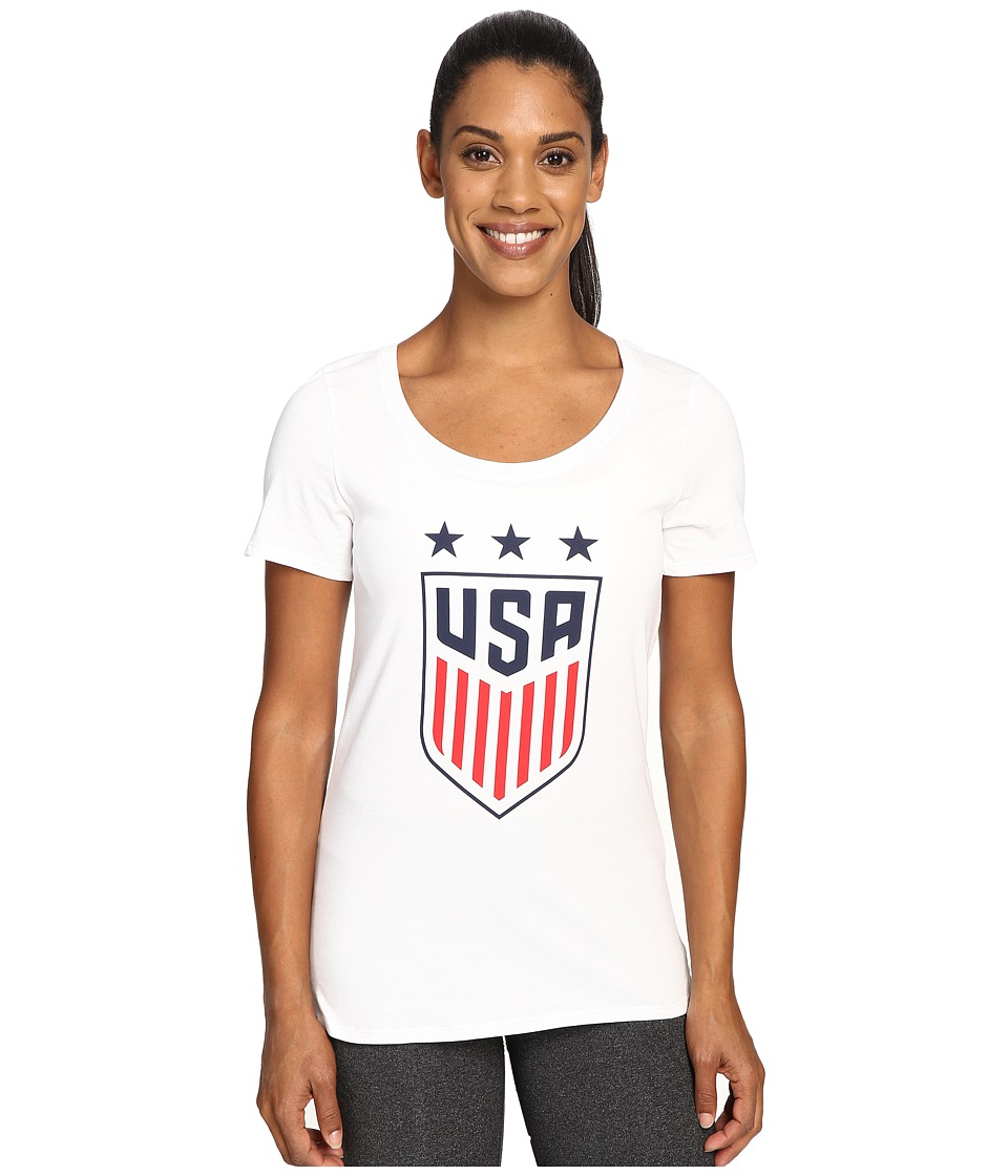 Nike - USA Crest Tee (White) Women's T Shirt