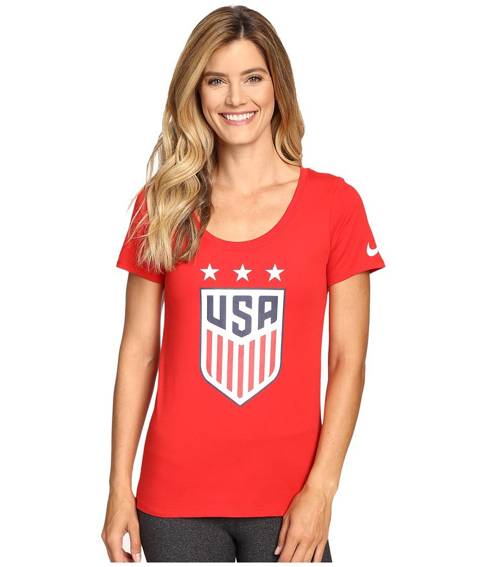 Nike - USA Crest Tee (University Red) Women's T Shirt