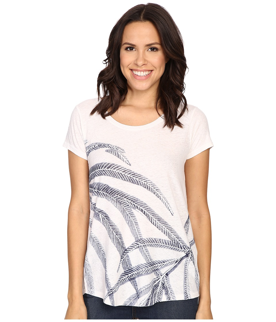 Lucky Brand Palm Fronds Tee (Cloud Dancer) Women
