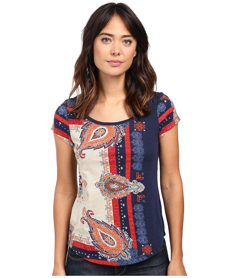 Lucky Brand - Americana Bandana Tee (American Navy) Women's T Shirt