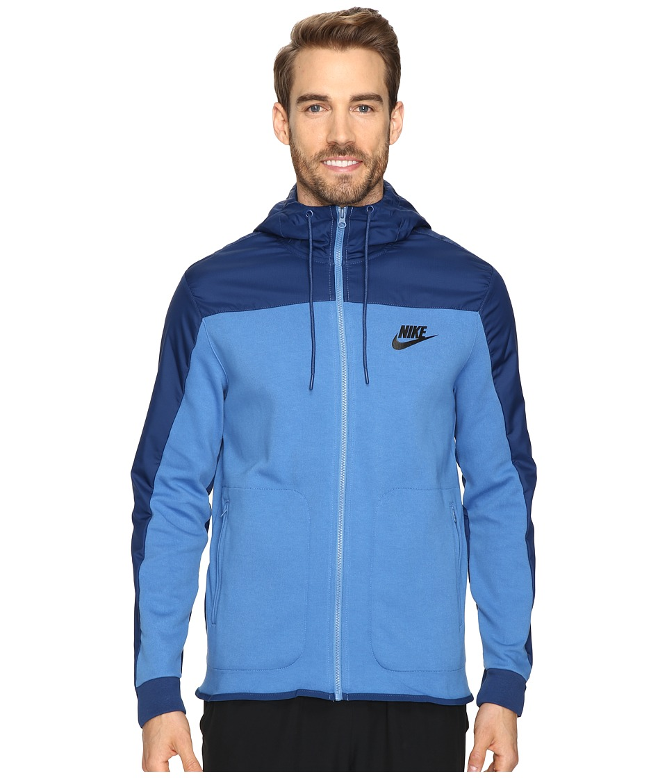 Nike - NSW AV15 Hoodie Full Zip SSNL (Star Blue/Coastal Blue/Black) Men's Sweatshirt