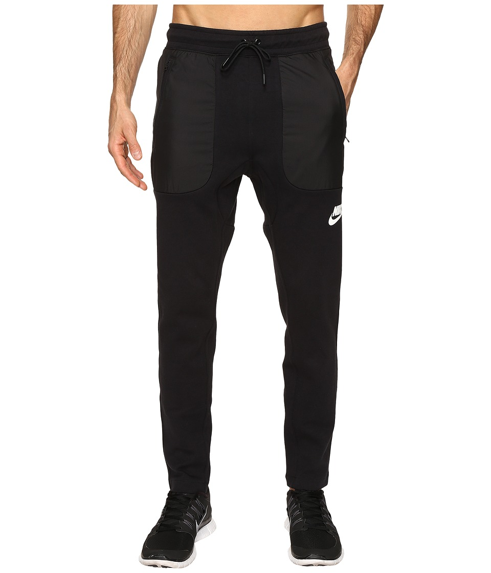 Nike - Sportswear AV15 Fleece Pant (Black/White) Men's Workout
