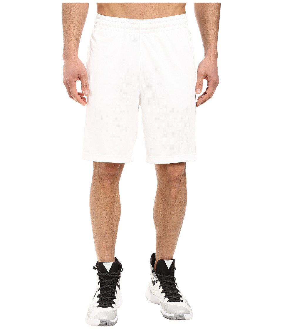Nike Elite Stripe Short (White/Black/Wolf Grey/Black) Men