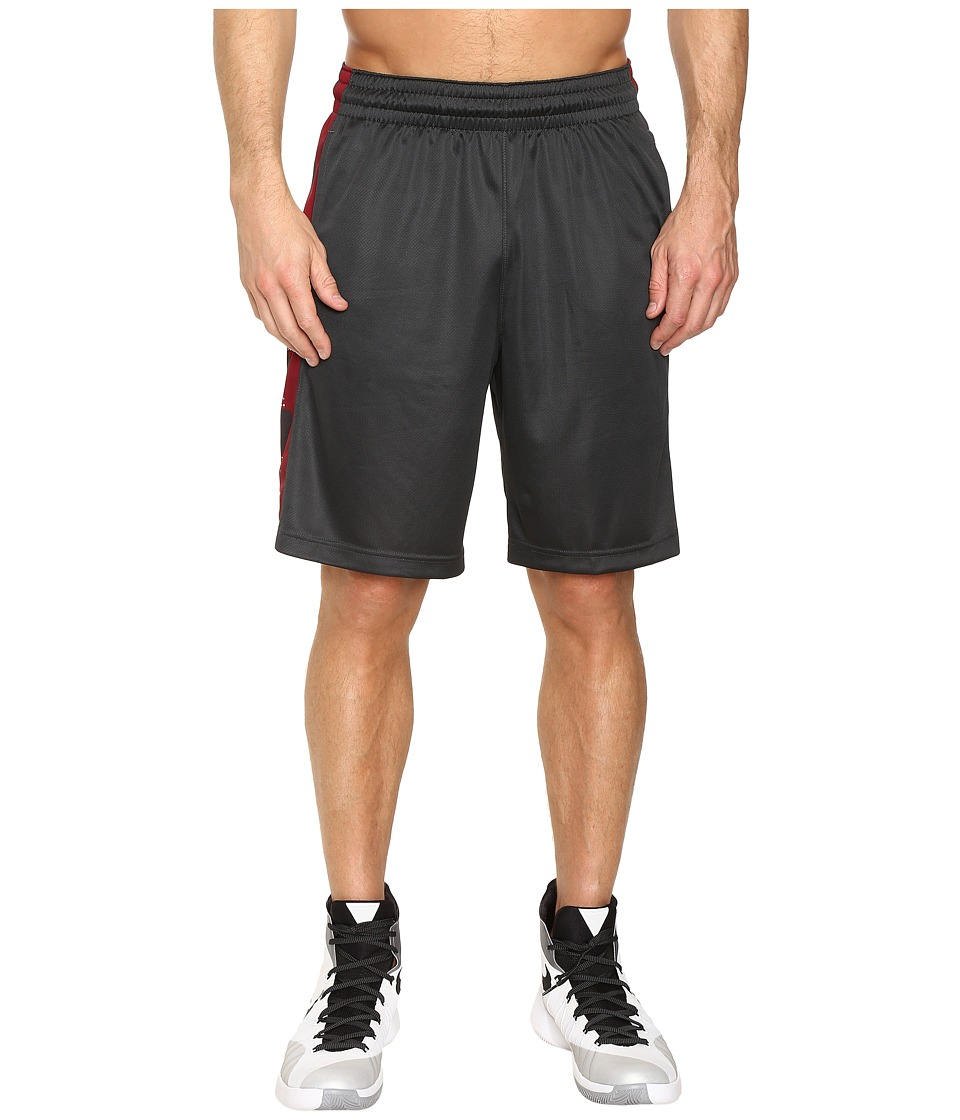 Nike Elite Stripe Short (Anthracite/Team Red/Black/Anthracite) Men
