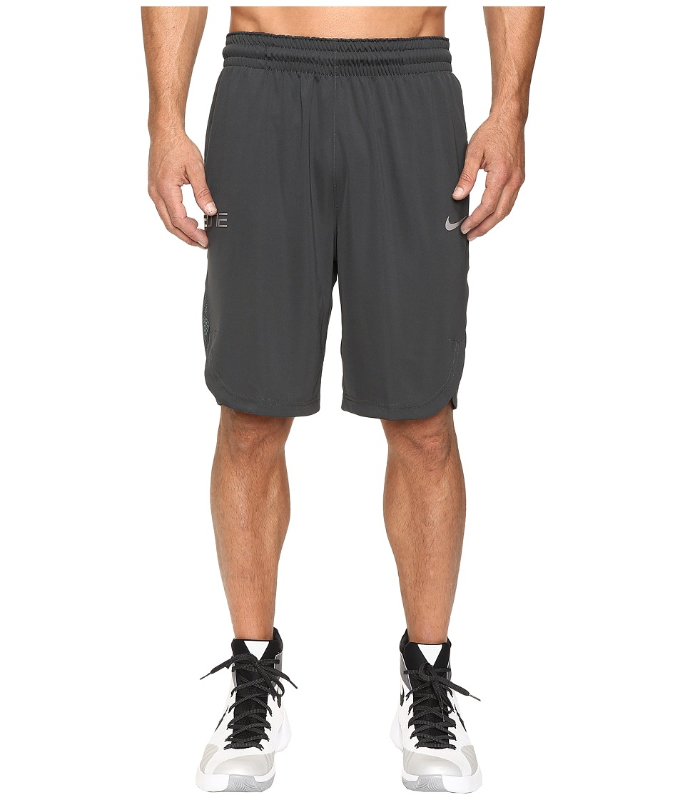 Nike - Elite Basketball Short (Anthracite/Cannon/Matte Silver) Men's Shorts