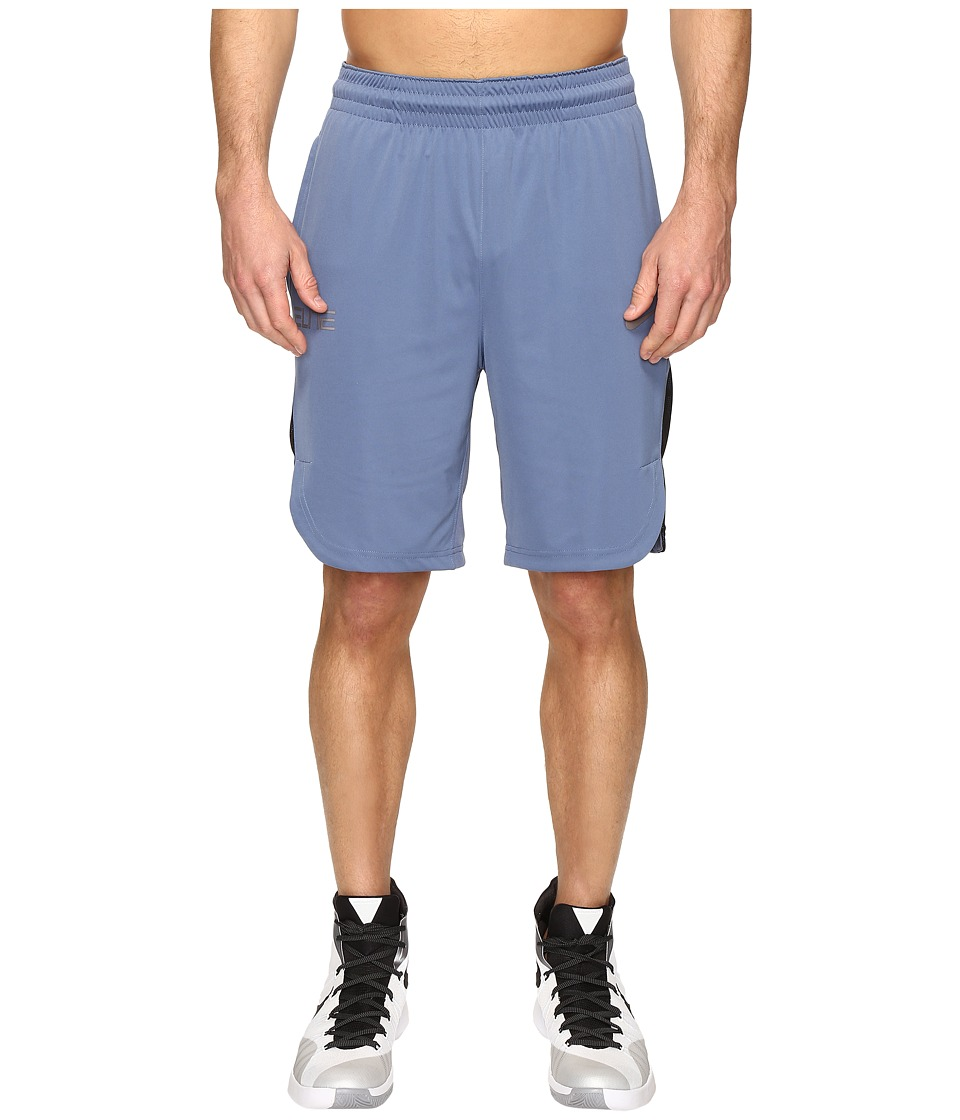 Nike - Elite Basketball Short (Ocean Fog/Dark Purple Dust/Matte Silver) Men's Shorts