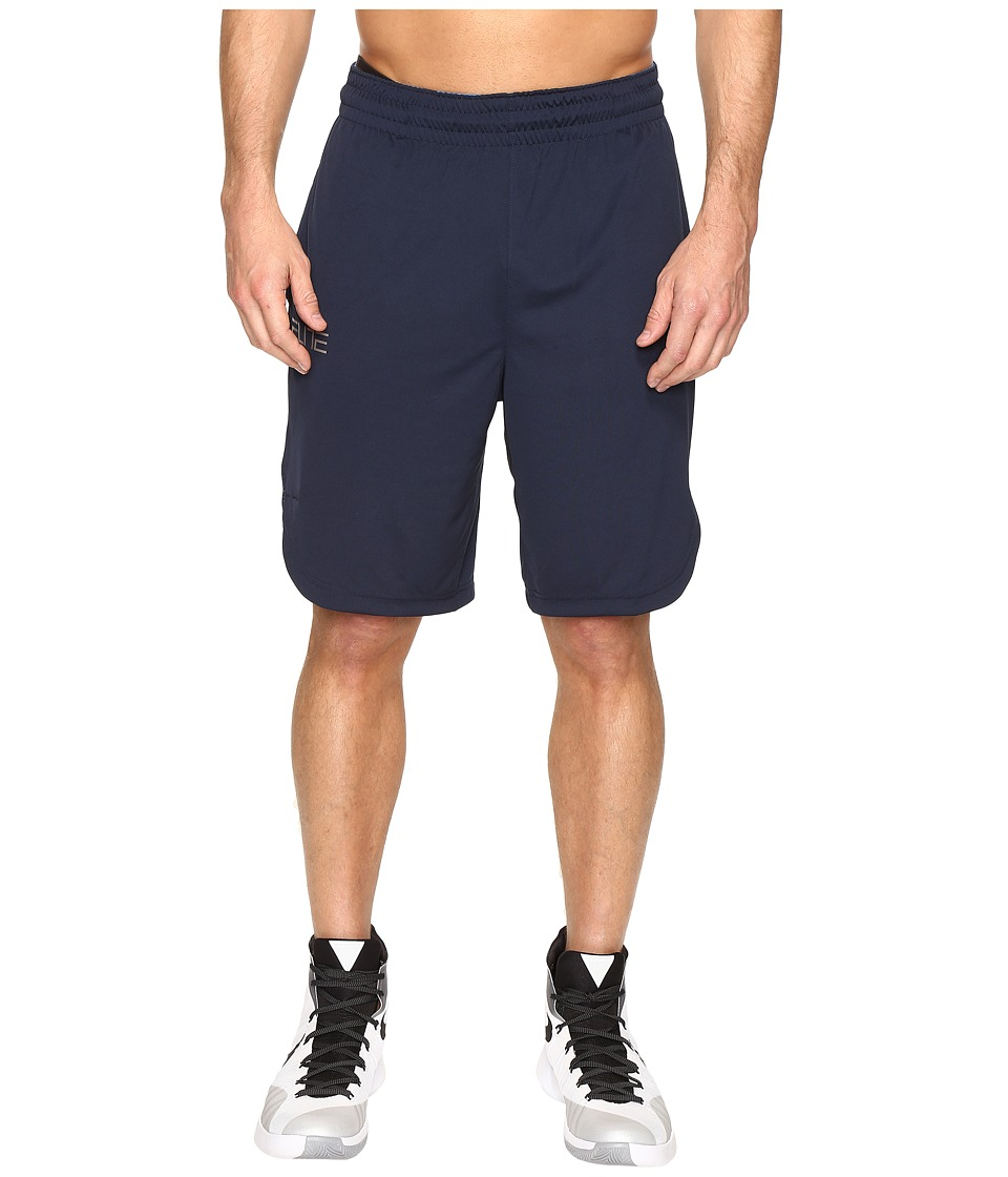 Nike - Elite Basketball Short (Obsidian/Obsidian/Matte Silver) Men's Shorts